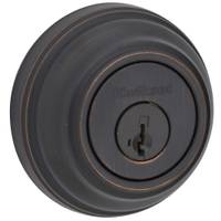 Kwikset 980 Single Cylinder Deadbolt featuring SmartKey in Venetian Bronze from Blain's Farm and Fleet