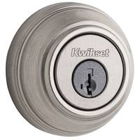 Kwikset 980 Single Cylinder Deadbolt featuring SmartKey in Satin Nickel from Blain's Farm and Fleet