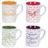 Gibson Inspirational Words 16 oz Mug Assortment from Blain's Farm and Fleet