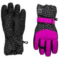 Nolan Originals Girls' Dot Print Ski Gloves from Blain's Farm and Fleet