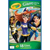 Crayola DC Superhero Girls Giant Coloring Pages from Blain's Farm and Fleet