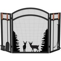 Panacea Fireplace Screen with Animals & Tools from Blain's Farm and Fleet