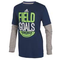 Adidas Boys' Field Goals Hangdown Tee from Blain's Farm and Fleet