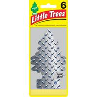 Little Trees Pure Steel Air Freshener - 6 Pack from Blain's Farm and Fleet