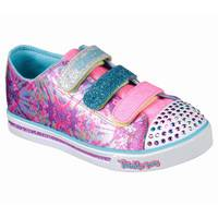 Skechers Girl's Hot Pink & Multi-Colored Shuffles Sparkle Glitz Pop Party Shoes from Blain's Farm and Fleet