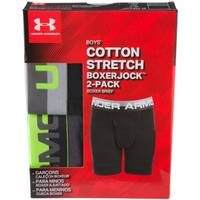 Under Armour Boys' Cotton Boxer Briefs - 2 Pack from Blain's Farm and Fleet