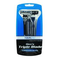 Equaline 3ct Men Triple Blade Disposable from Blain's Farm and Fleet