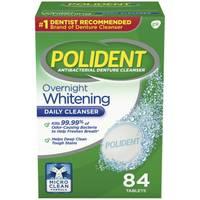 Polident Overnight Whitening Antibacterial Denture Cleanser Tablets from Blain's Farm and Fleet