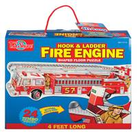 T.S. Shure Fire Engine Floor Puzzle from Blain's Farm and Fleet
