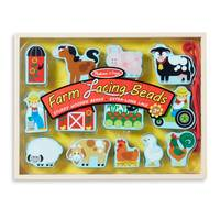 Melissa & Doug Farm Lacing Beads from Blain's Farm and Fleet