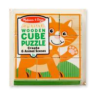 Melissa & Doug My First Wooden Cube Puzzle - Animals Assortment from Blain's Farm and Fleet