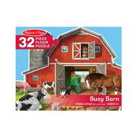 Melissa & Doug 32-Piece Busy Barn Shaped Floor Puzzle from Blain's Farm and Fleet