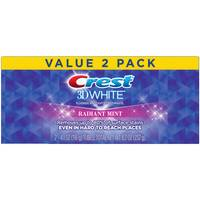 Crest 9.6oz 3D White Whighteing Toothpaste Twin Pack from Blain's Farm and Fleet