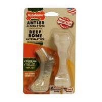 Nylabone Dura Chew Antler Alternative & Beef Bone Twin Pack from Blain's Farm and Fleet