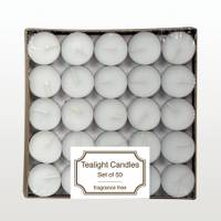 Langley Home Unscented Tealight Candles - 50 Pack from Blain's Farm and Fleet