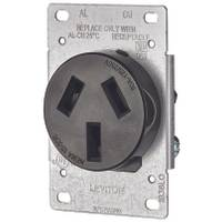 Leviton 50 Amp Shallow Single Flush Mounted Receptacle from Blain's Farm and Fleet