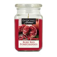 Enticing Aromas Ruby Red Pomegranate Candle from Blain's Farm and Fleet