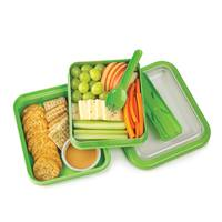 Progressive Prep Solutions Divided Square Lunch Box To Go from Blain's Farm and Fleet