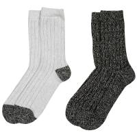 Huffman Hosiery Women's Microfiber Socks - 2 Pack Assortment from Blain's Farm and Fleet