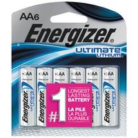 Energizer Lithium AA 6-Pack from Blain's Farm and Fleet