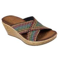 Skechers Women's Multi-Colored Beverlee Delighted Slide Sandals from Blain's Farm and Fleet