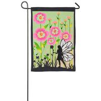 Evergreen Enterprises Garden Fairy Burlap Garden Flag from Blain's Farm and Fleet