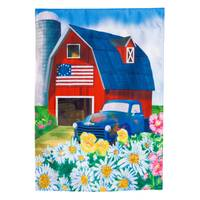 Evergreen Enterprises Patriotic Barn Garden Flag from Blain's Farm and Fleet