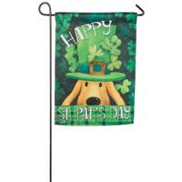 Evergreen Enterprises St. Patricks Dog Garden Suede Flag from Blain's Farm and Fleet