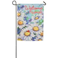 Evergreen Enterprises Daisy Welcome Garden Suede Flag from Blain's Farm and Fleet