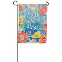 Evergreen Enterprises Faith Love Hope Garden Suede Flag from Blain's Farm and Fleet