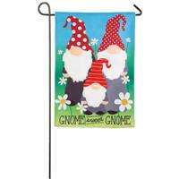 Evergreen Enterprises Gnome Sweet Gnome Garden Burlap Flag from Blain's Farm and Fleet