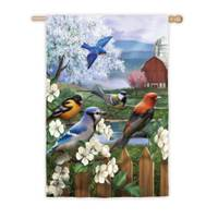 Evergreen Enterprises Spring Gathering House Satin Flag from Blain's Farm and Fleet