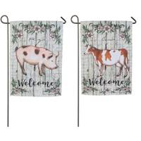 Evergreen Enterprises Farm Welcome Garden Suede Flag from Blain's Farm and Fleet