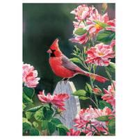 BreezeArt Cardinal & Roses Garden Flag from Blain's Farm and Fleet