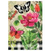 BreezeArt Butterflies in Check Standard Flag from Blain's Farm and Fleet