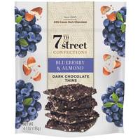 7th Street Confections Blueberry & Almonds Dark Chocolate Thins from Blain's Farm and Fleet