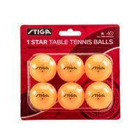 Escalade Orange One-Star 6-Pack Table Tennis Balls from Blain's Farm and Fleet