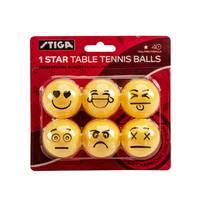Escalade Emoji One-Star 6-Pack Table Tennis Balls from Blain's Farm and Fleet