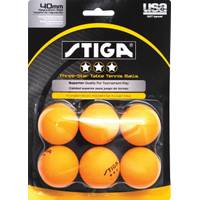 Escalade Orange Three-Star 6-Pack Table Tennis Balls from Blain's Farm and Fleet