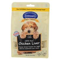 Stewart 100% Pure Chicken Liver Freeze Dried Treats for Dogs from Blain's Farm and Fleet