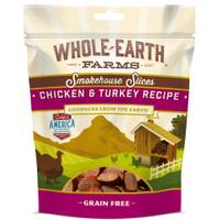 Whole Earth Farms 5 oz Chicken Turkey Slice Dog Treats from Blain's Farm and Fleet
