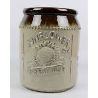 Border Concepts Sunflower Brown & Antique Cream Jar from Blain's Farm and Fleet