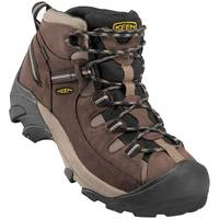 KEEN Men's Shiitake & Brindle Targhee II Waterproof Mid Wide Hiking Boots from Blain's Farm and Fleet