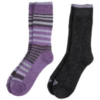 Columbia Women's Black Moisture Control Striped Socks from Blain's Farm and Fleet