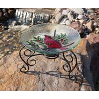 Evergreen Enterprises Scroll Table Top Bird Bath Stand from Blain's Farm and Fleet