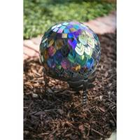 Evergreen Enterprises Dragonfly Adorned Gazing Ball Stand from Blain's Farm and Fleet