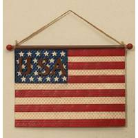 Gerson International Metal & Burlap Patriotic Wall Hanging from Blain's Farm and Fleet