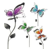 Exhart Large Nickle Glass Butterfly Plant Pick from Blain's Farm and Fleet