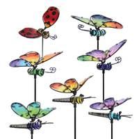 Exhart Large WindyWing Glass Insect Plant Pick from Blain's Farm and Fleet