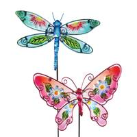 Exhart Glass Floral Wing Butterfly Garden Stake from Blain's Farm and Fleet
